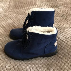 Blue suede Boots - Size 39